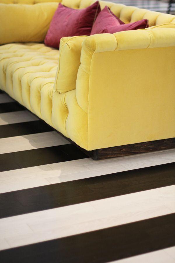 yellow sofa pink