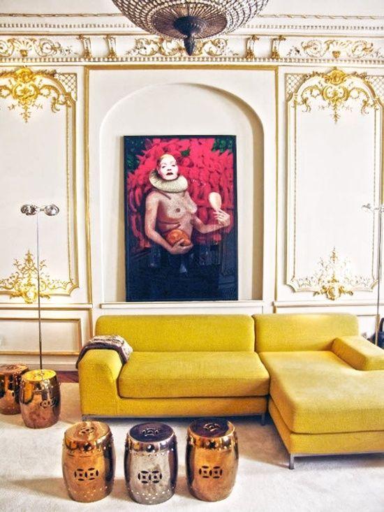 yellow sofa
