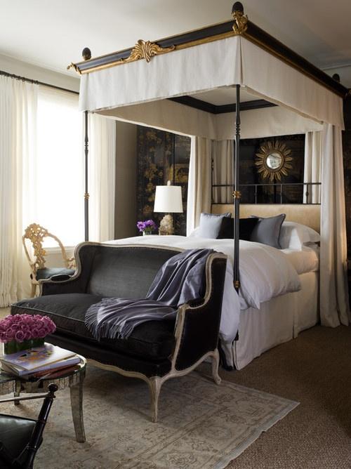 glamorous bedroom settee