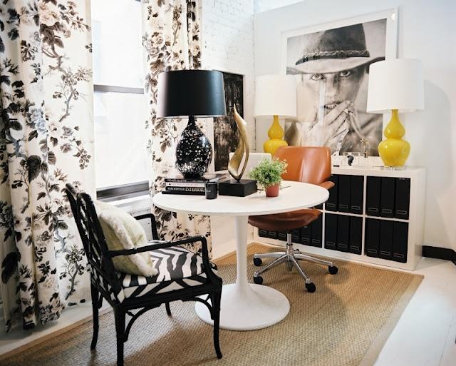black and zebra chair
