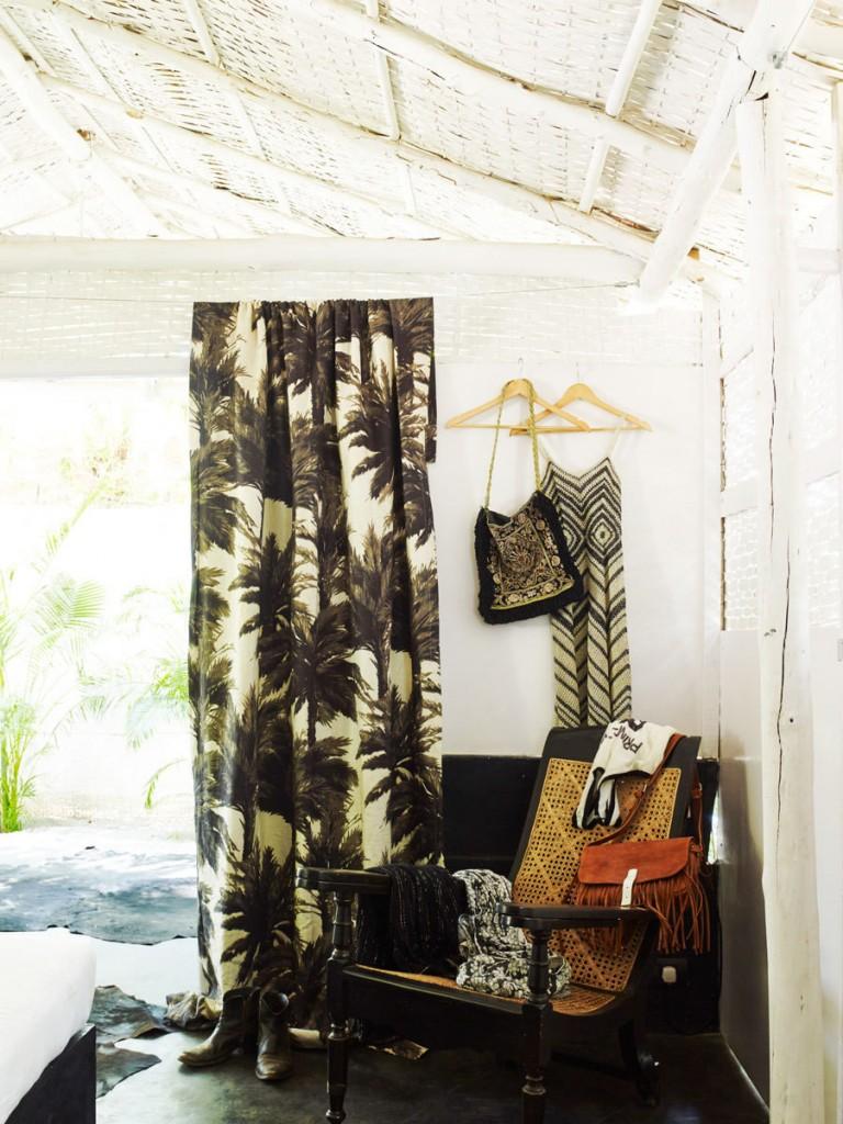 black palm fabric