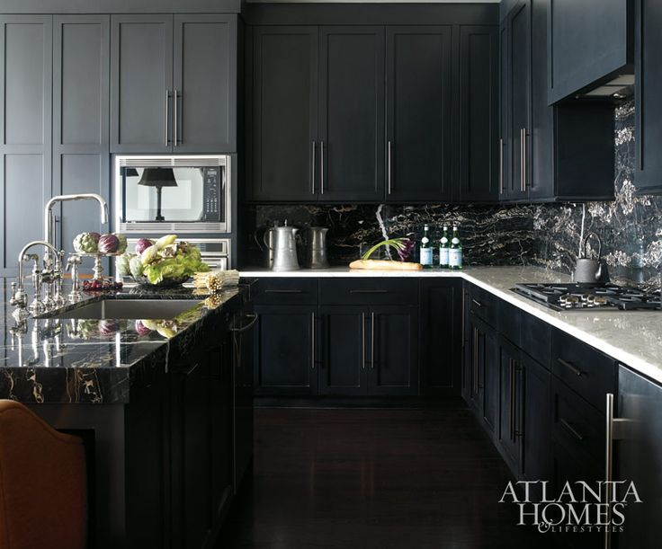black glam kitchen