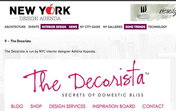 TOP 10 INTERIOR DESIGN BLOGS OF NEW YORK