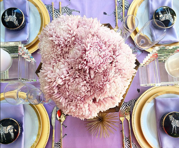 zebra and lavender glamour