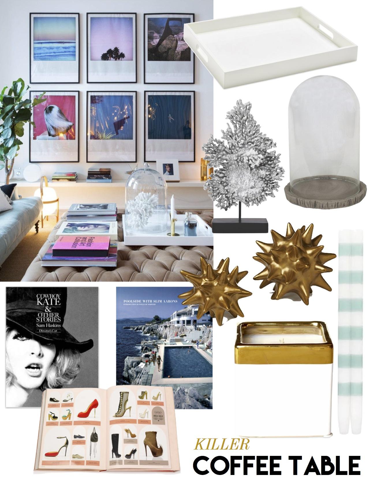 killer coffee table style - the decorista