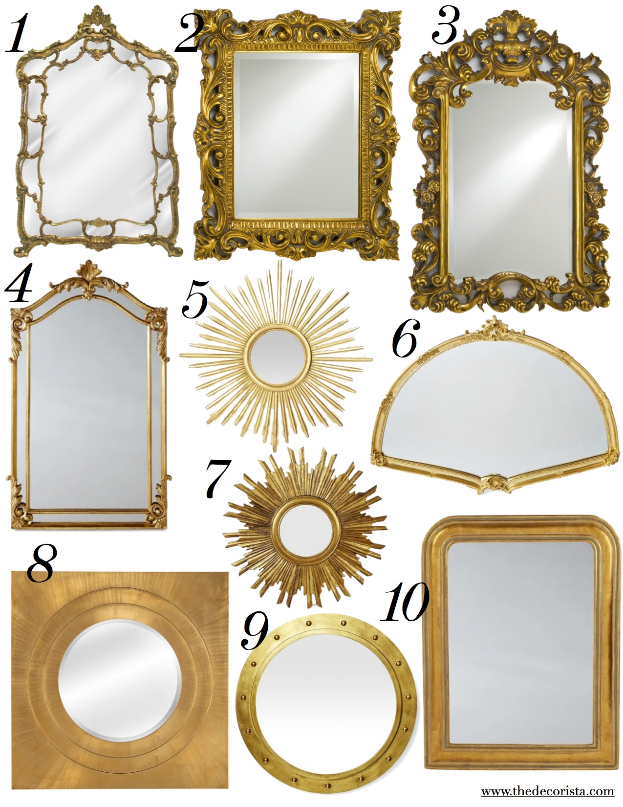 top 10 gold mirrors