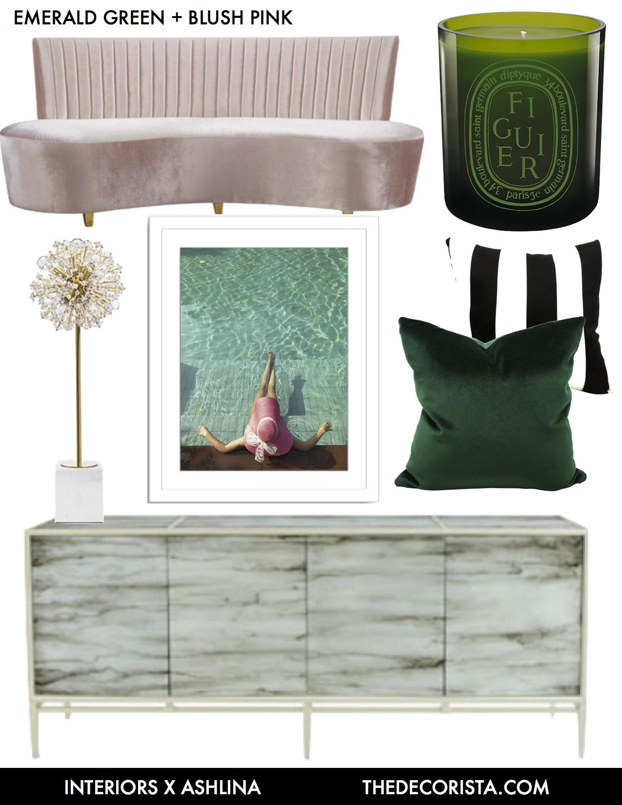 Killer Color Combo Emerald Blush Pink Black And White Ashlina Kaposta