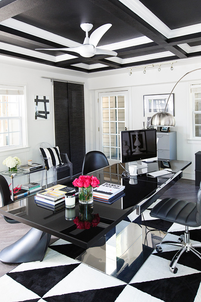 Get The Look Hollywood Glam Black And White Office Space Ashlina Kaposta