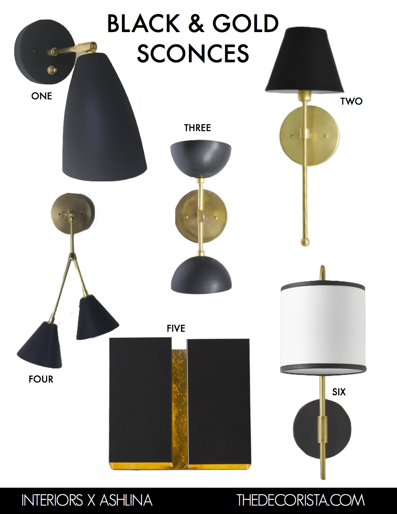 BLACK GOLD SCONCES