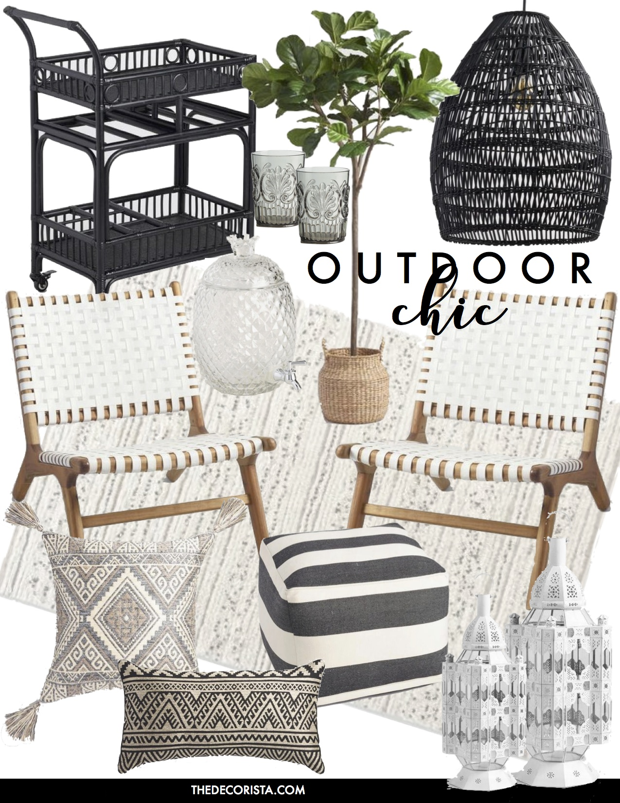 black and white outdoor finds
