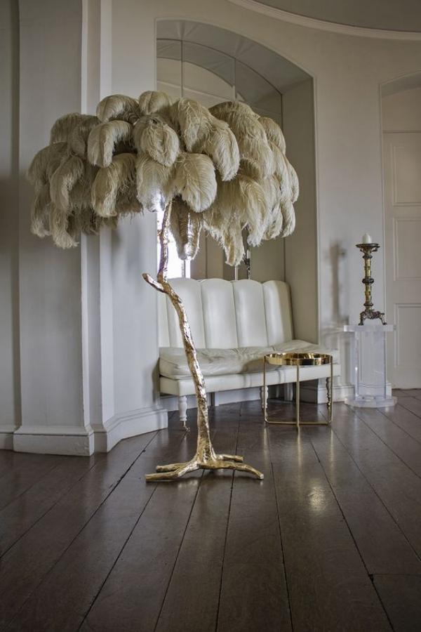 Chic Brass Palm Tree, Palm Floor Lamp Cb2