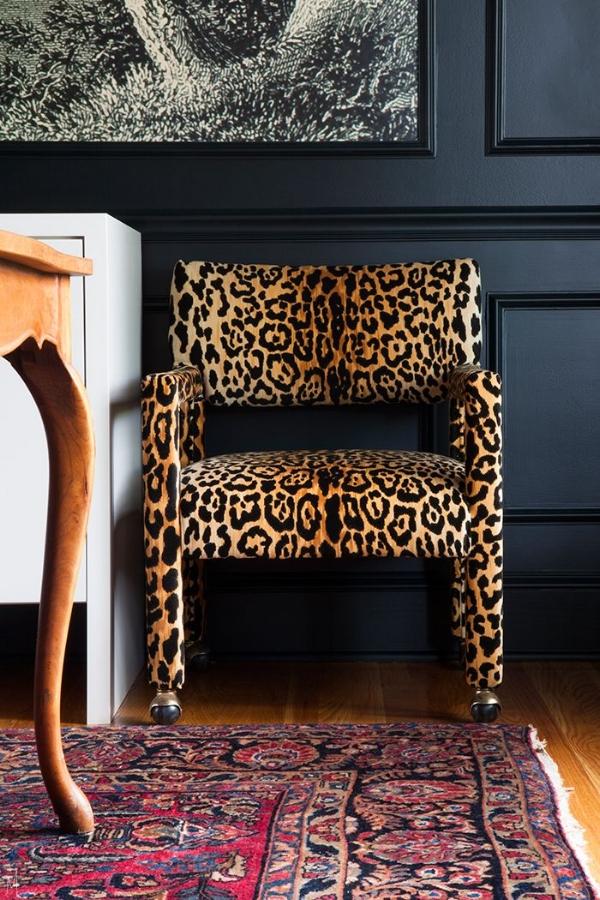 leopard parsons chair