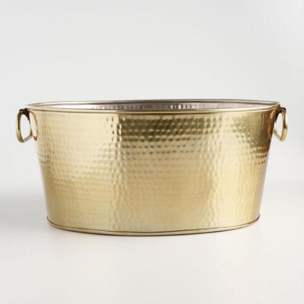 gold hammered tub