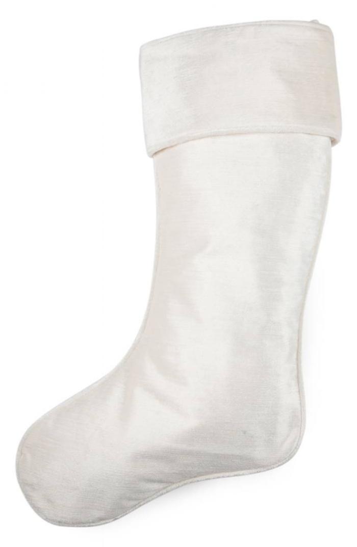 white velvet stocking