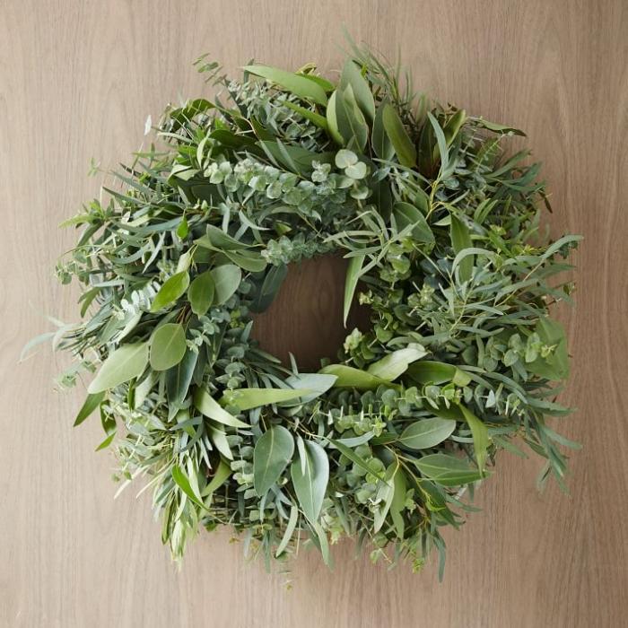 wreath in eucalyptus