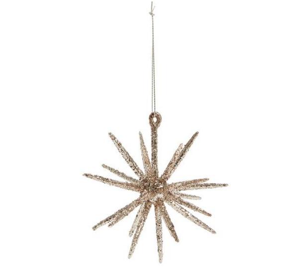 rose gold sputnik ornament