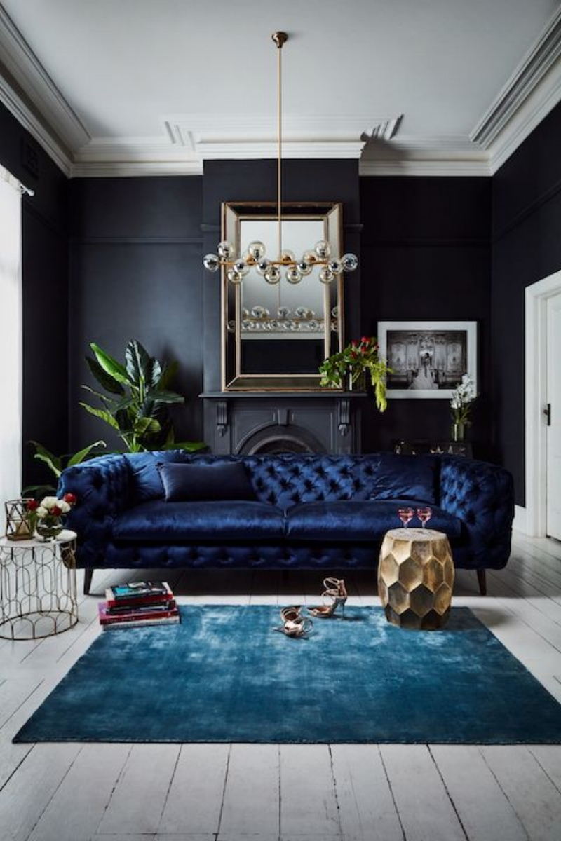 Feng Shui Decorating With Deep Blue For Wisdom Serenity