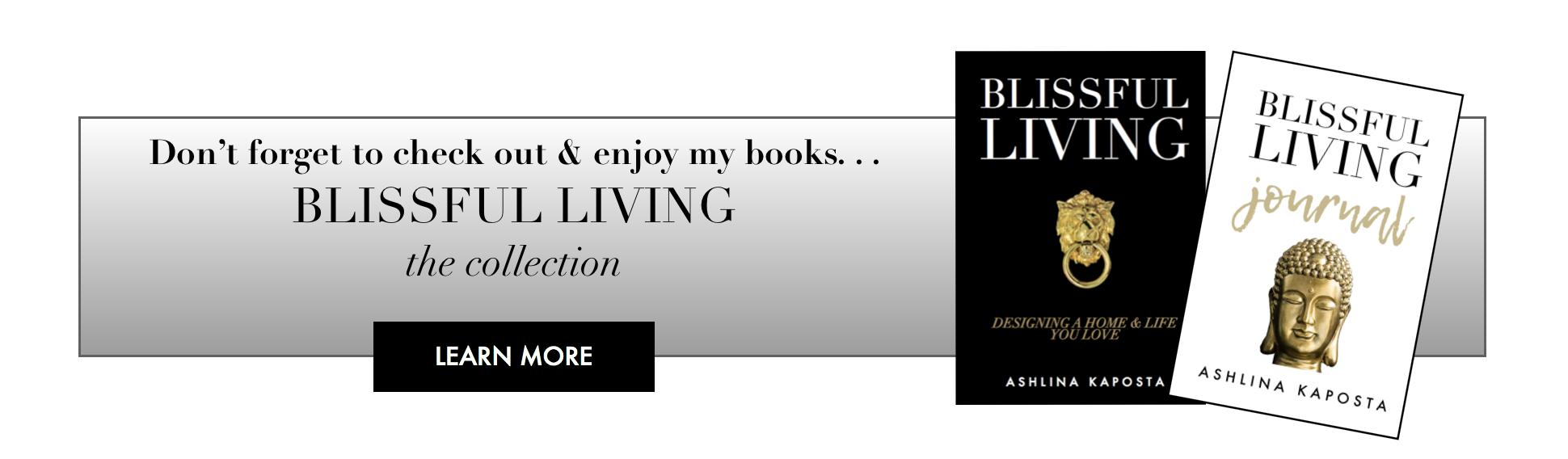 blissful living books