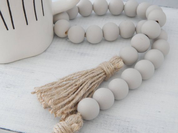 grey garland beads