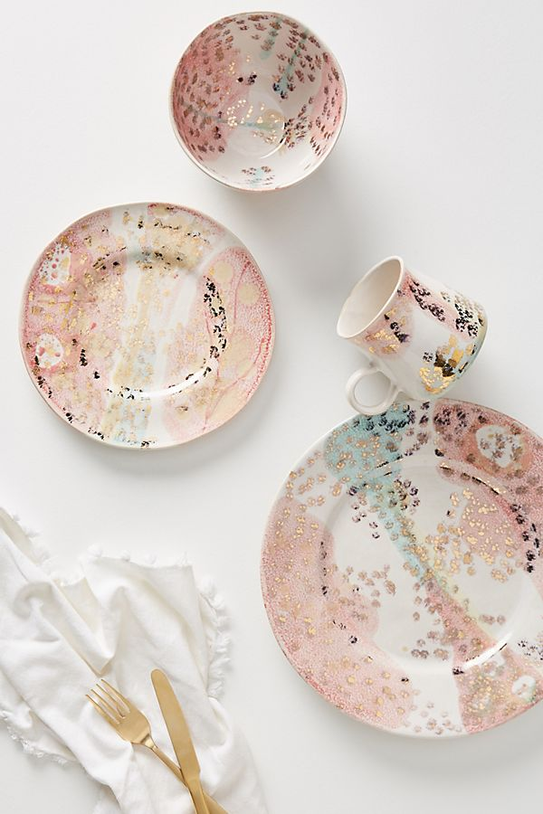 beautiful coral dishes