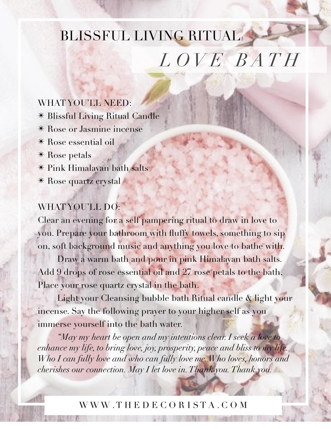 love bath ritual