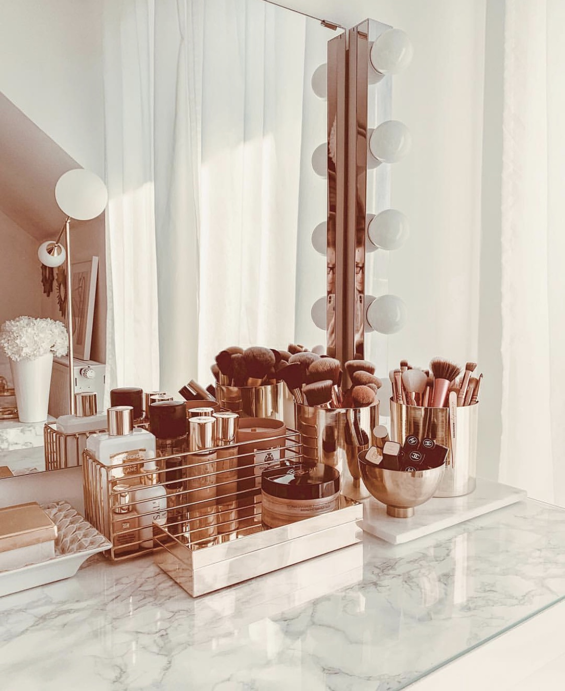 rose gold modern vanity