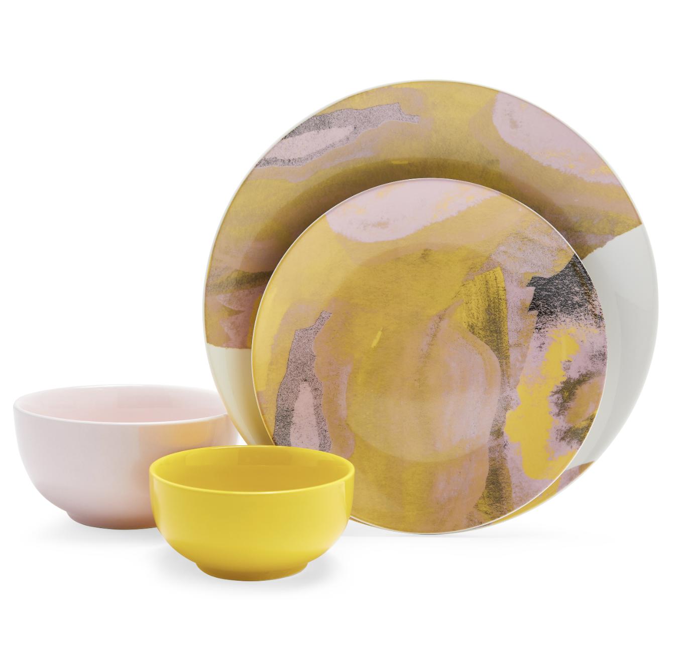 abstract dish set