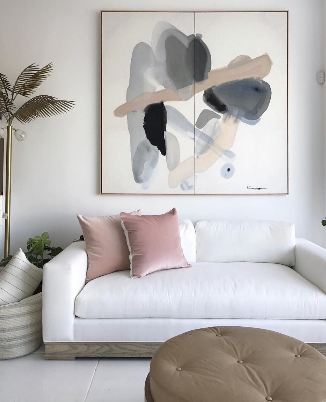 chic sofa and art vibe