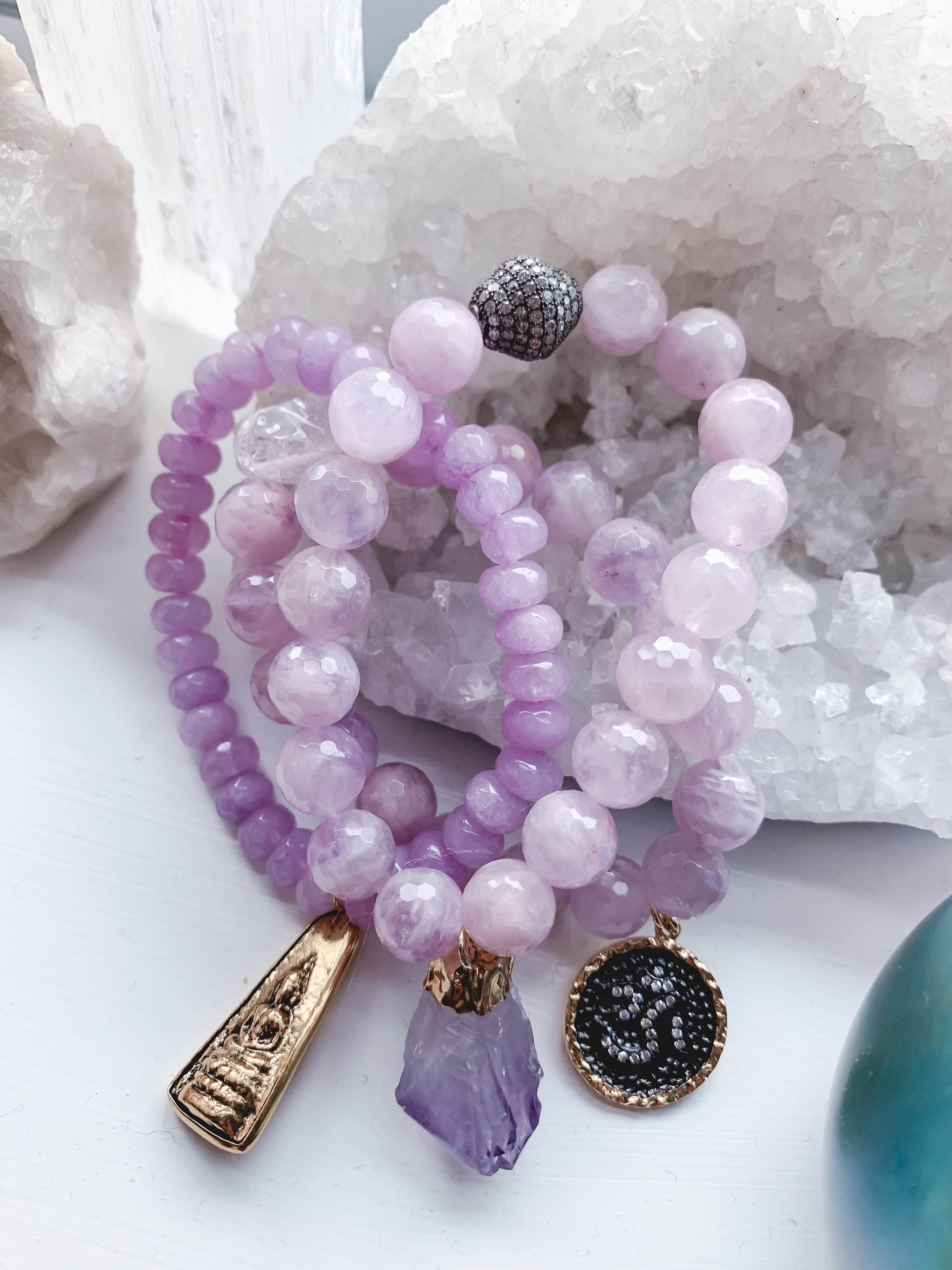 amethyst crystal stack