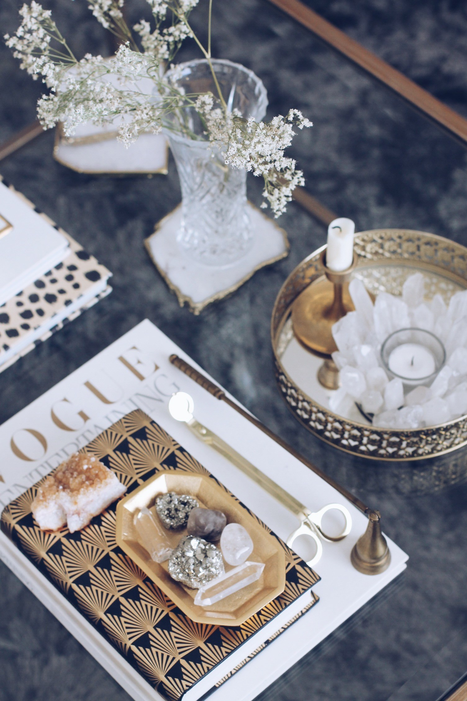 glam coffee table