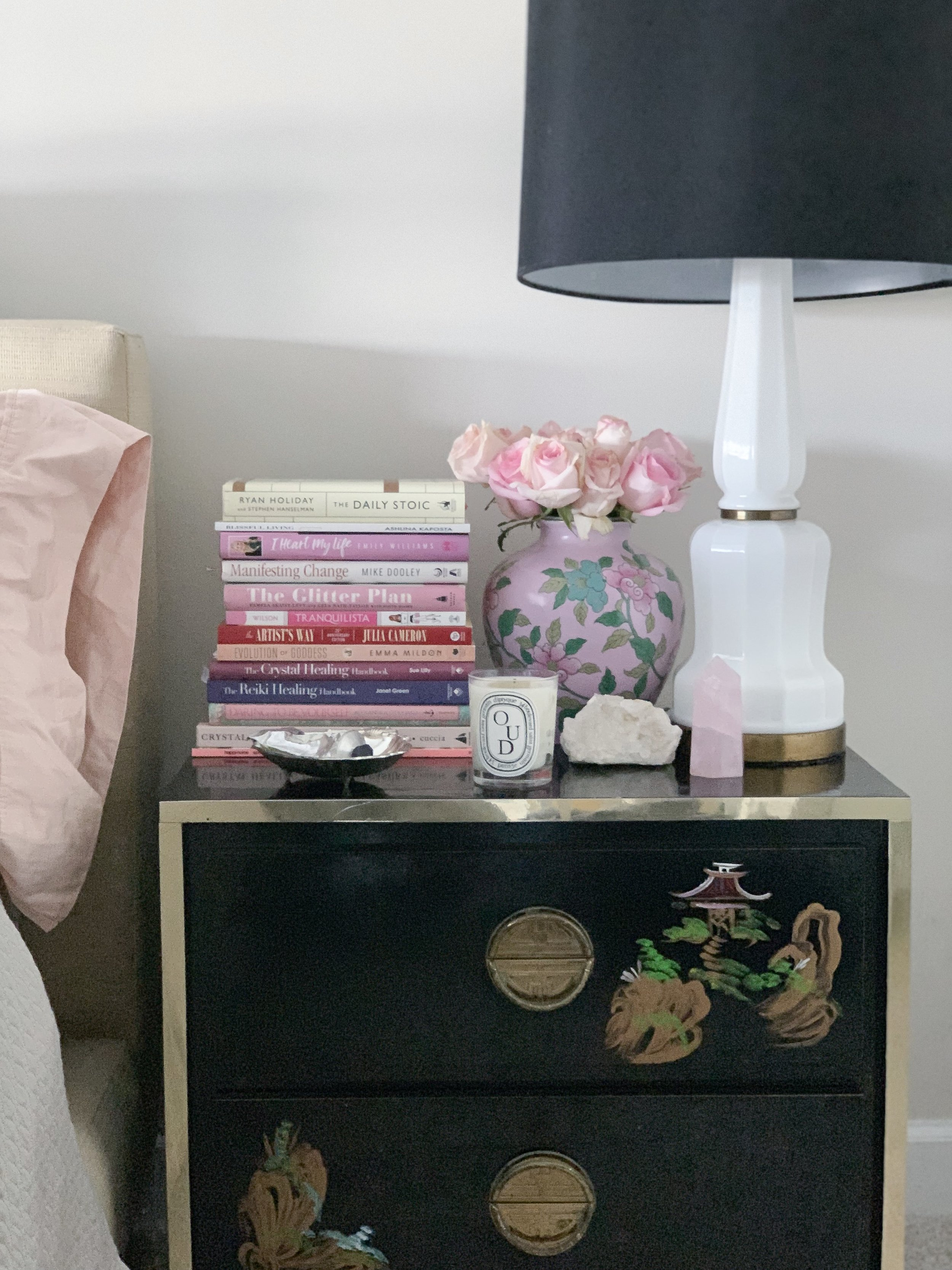 How To Style Your Nightstand For A Calmer Mind Blissful