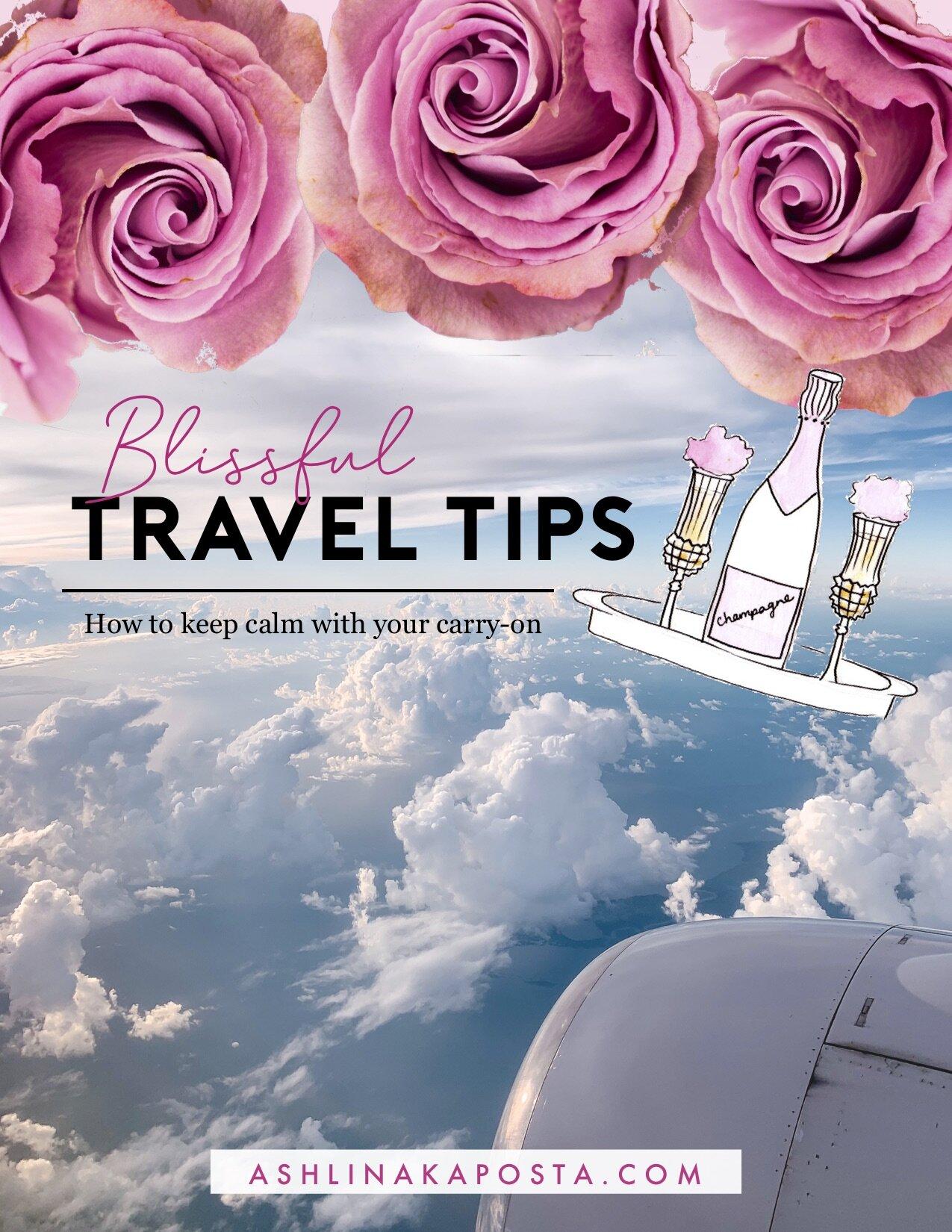 travel tips - blissful living