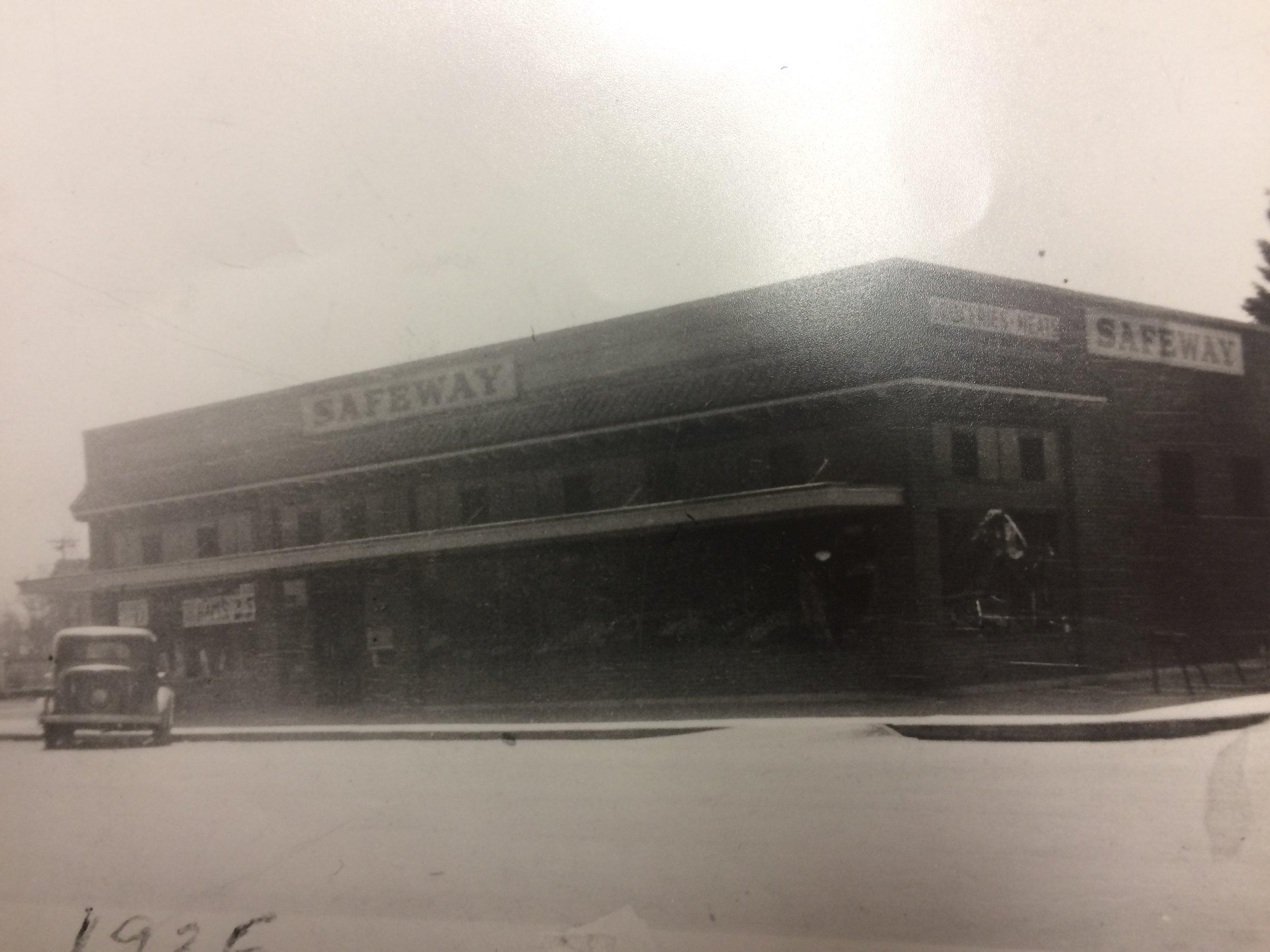 The Missoula Senior Center was originally a Safeway built here at 705 S. Higgins in 1928. Later it became a Buttrey's (picture featured below)
