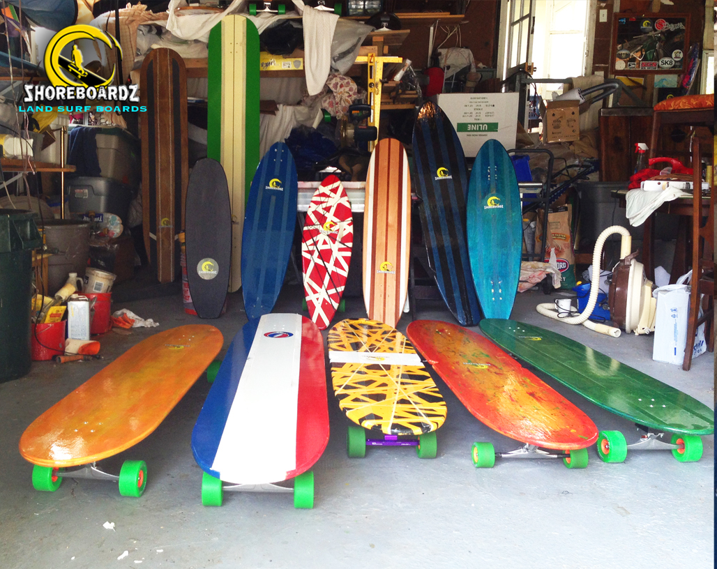 Some Custom Paint Jobs on Our Longer Boards