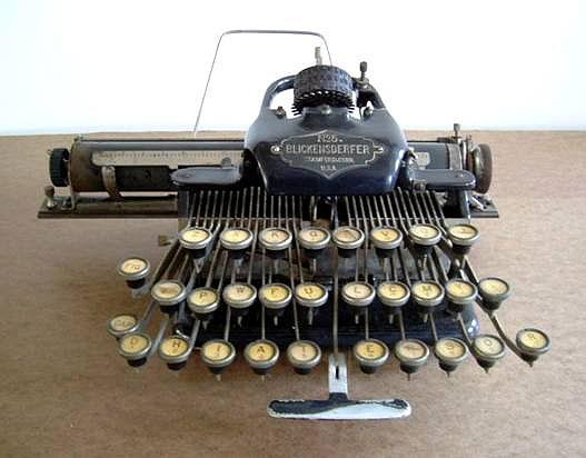 Blickensderfer No. 5 Typewriter (imagefrom www.americanprecision.org)