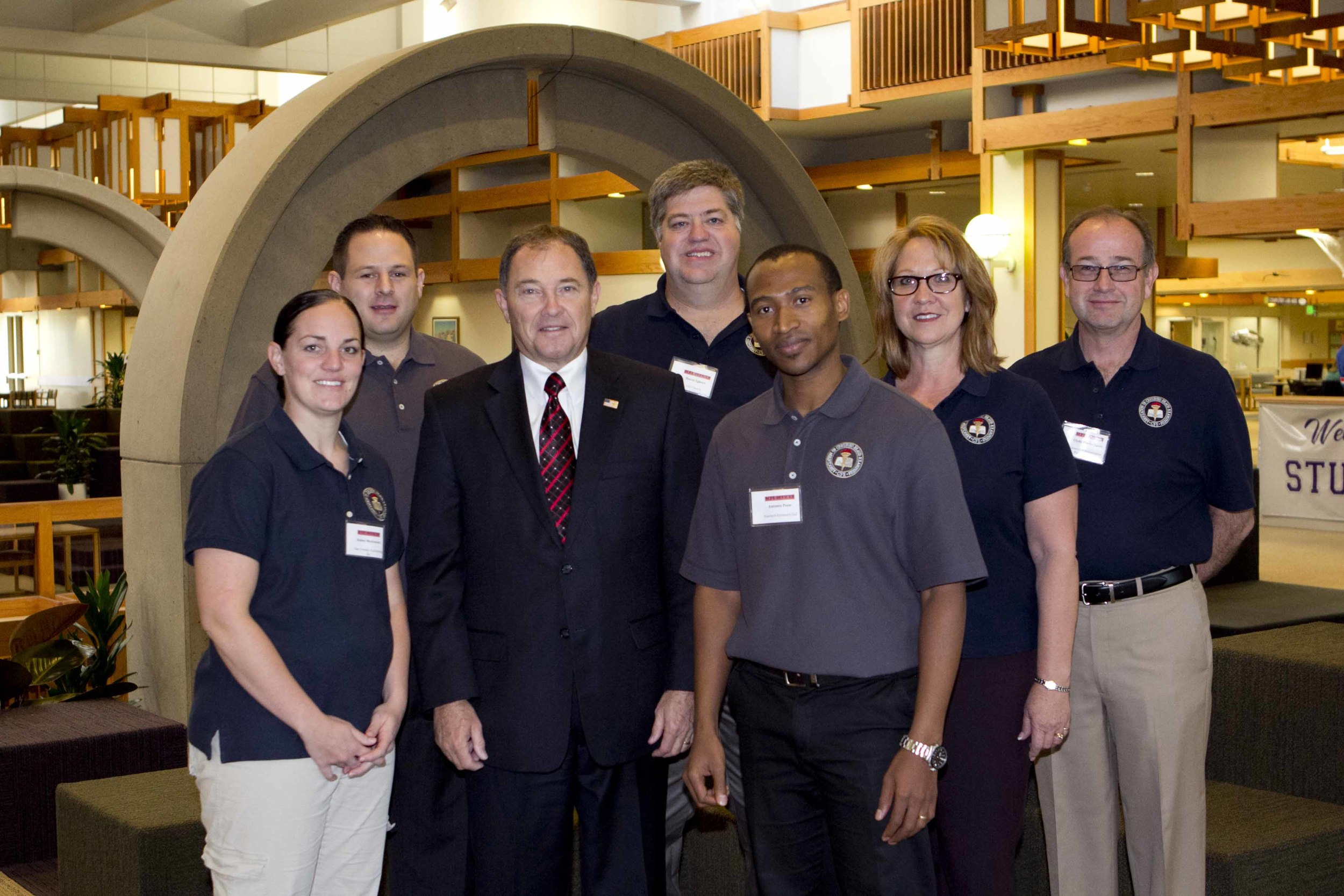 ACFE Utah Board members with Utah Governor Gary Herbert.