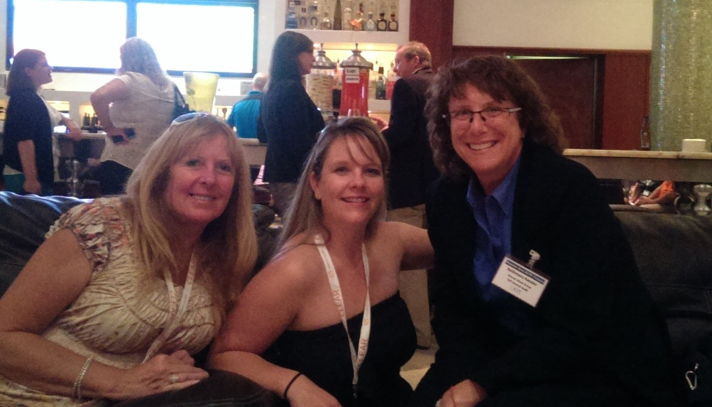 Houston Area Chapter member Toni Sirles, CFE, conference attendee from Calgary Jolie Rattenbury, CFE, and conference speaker Bethmara Kessler, CFE at the Thursday evening networking event.