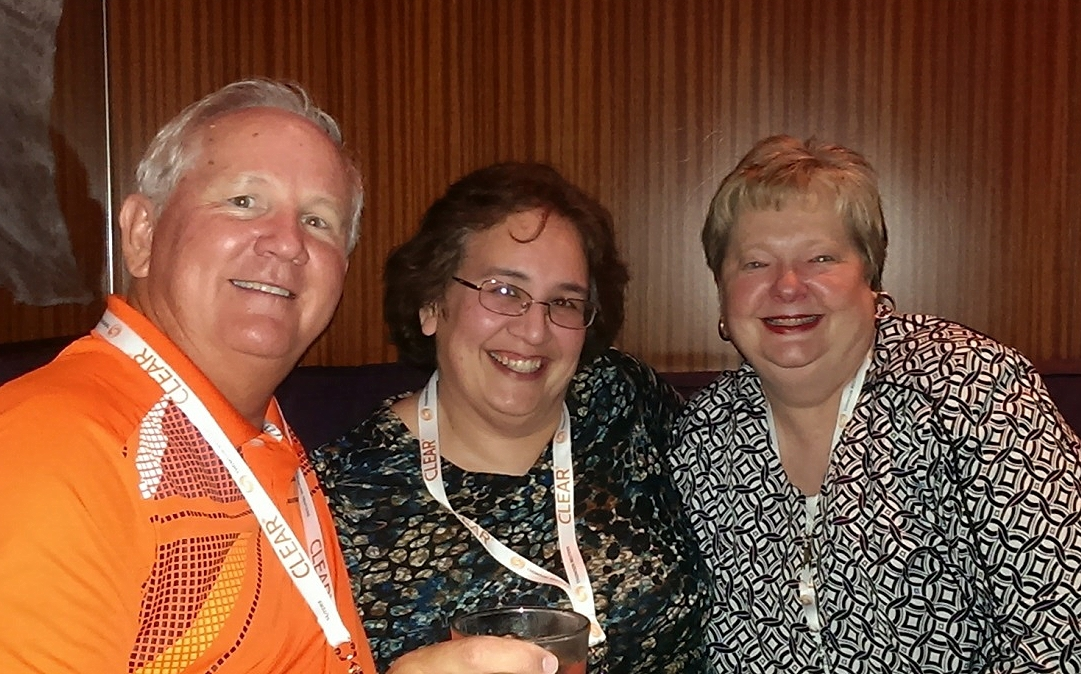 Conference Chairman Kent Dixon, CFE, with chapter members Patricia Swagerty, CFE and Roxann Sebring, CFE.