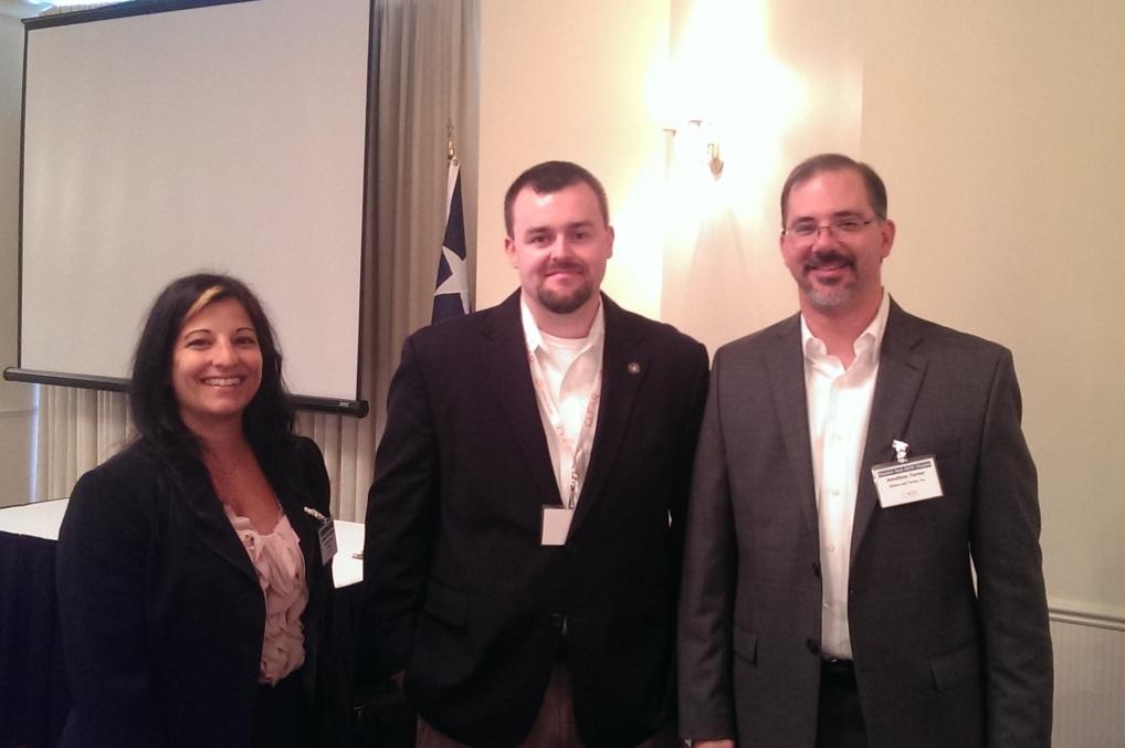 Speaker Cynthia Hetherington, CFE, Chapter President Ryan Hubbs, CFE, and speaker Jonathan Turner, CFE.