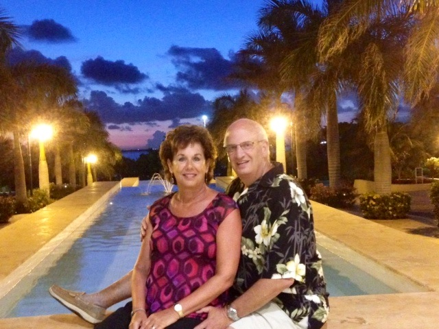 Sobine and wife Sherry in Cancun, Mexico.