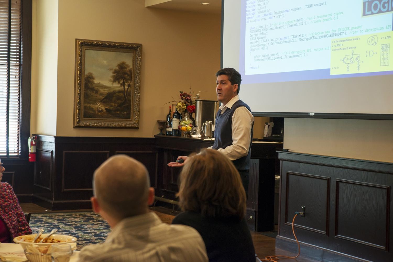 February luncheon speaker Ray Yepes.