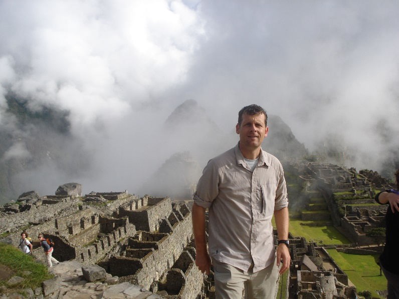 Iain Gallie at Machu Picchu in Peru.