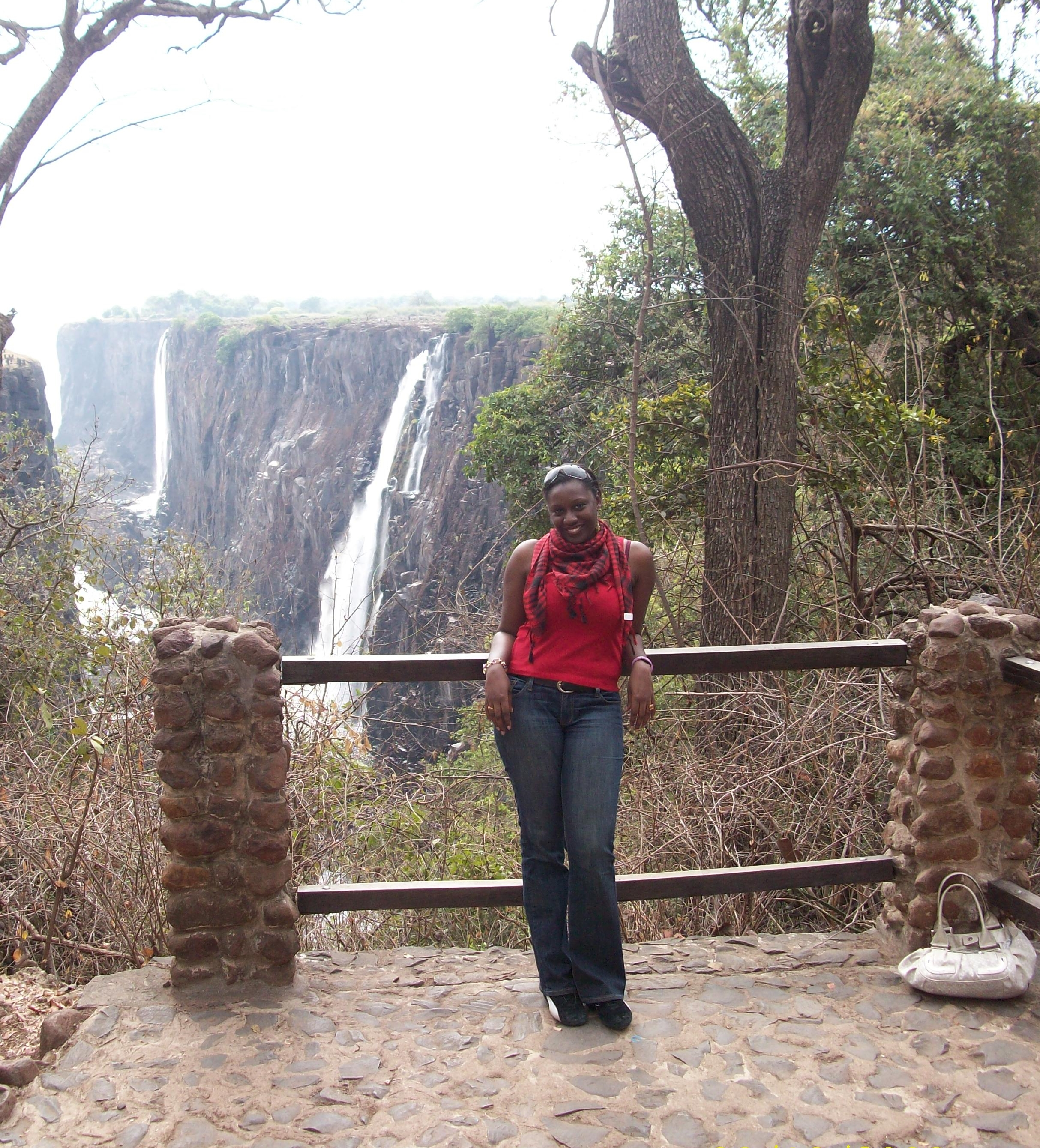 At Victoria Falls in Zambia.