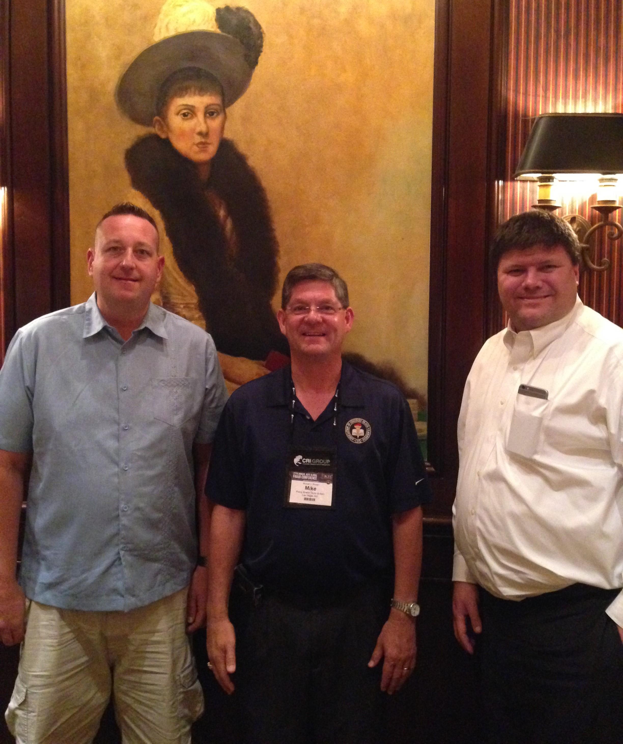 Tournament winner Chris Dransfeldt with Las Vegas Chapter Leaders Mike Rosten and James Vaughn