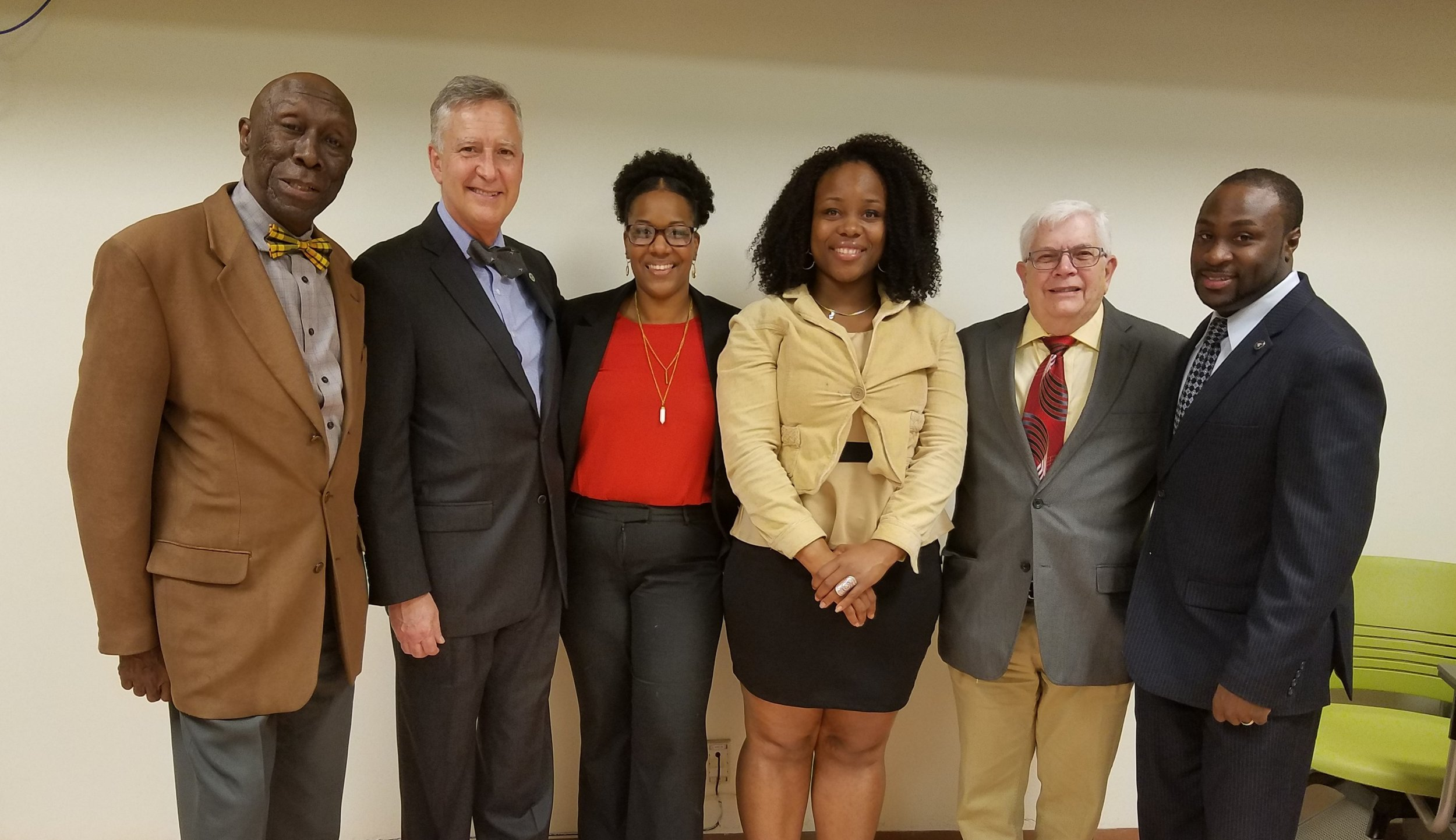 Brooklyn Chapter Leaders. From left to right: Franklyn Hayes, Anthony Edward Major, Diomaris Martinez, Joann Winter, Ron Semaria, and Adrian Duncan