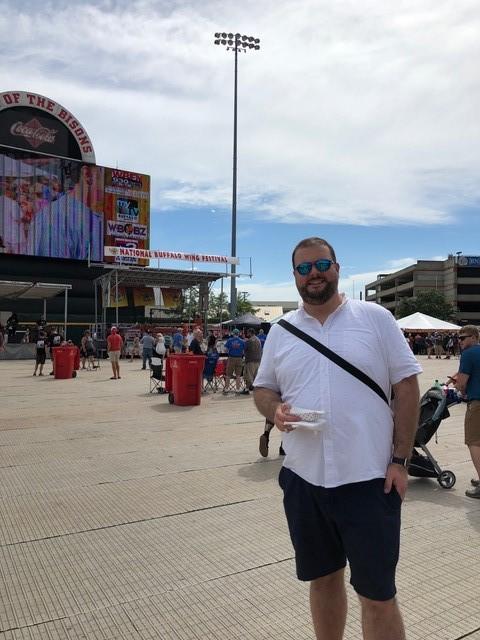 Evan at the National Buffalo Wing Festival in Buffalo, NY