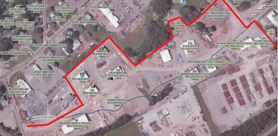 Arial View of Reeves Business Park