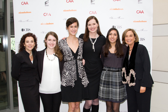 There I am (second from the left) with Geena Davis in LA, debuting our video series at her first annual symposium for GDIGM. Geena is a BU alum just like me and I find that to be pretty neat.