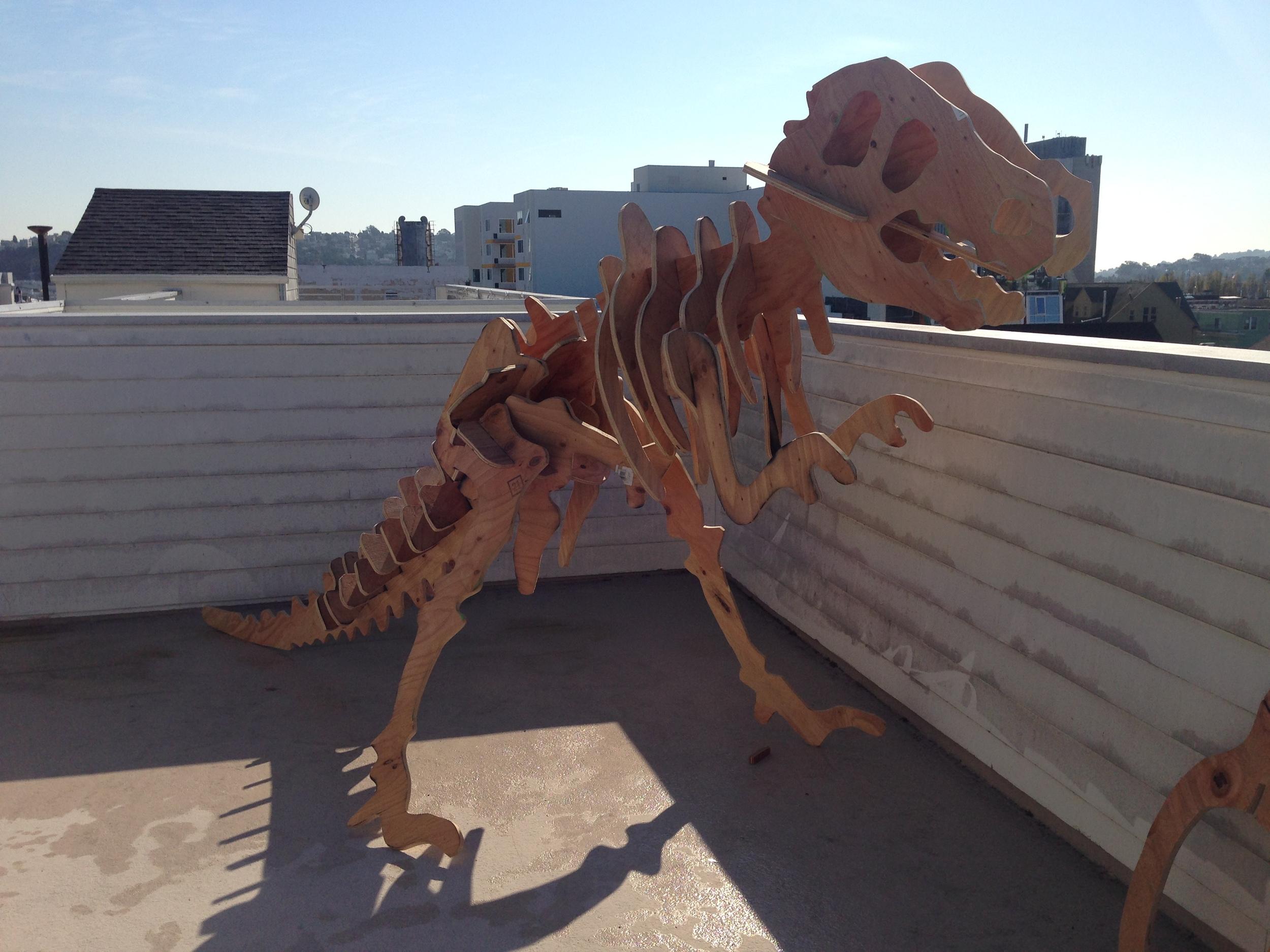 The dinosaur we built for Burning Man
