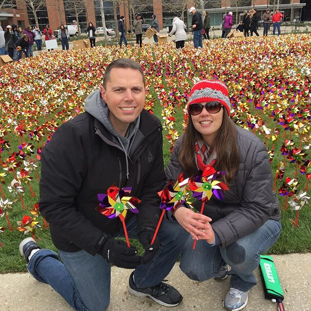 We honored Sydnee's memory today by assisting with the planting of 8,000 pinwheels in front of the OSU Medical Center as part of Donate Life month. We remember the wonderful gift organ donation provides to so many.